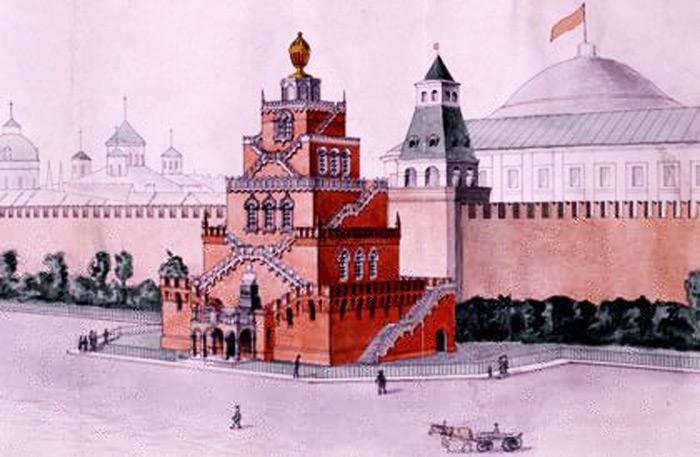 Проект Мавзолея Ленина, 1924-й год